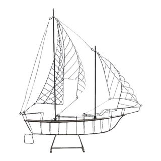 Vintage Wire Ship For Sale