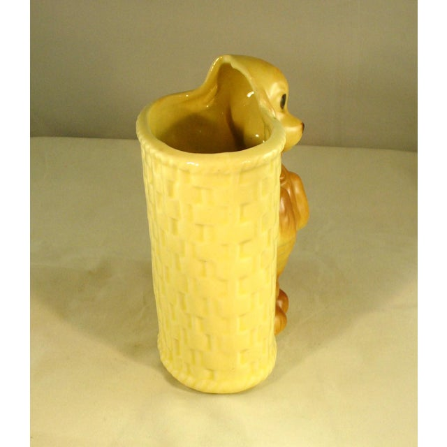 Vintage Mid-Century Ceramic Dog Planter - Image 5 of 6