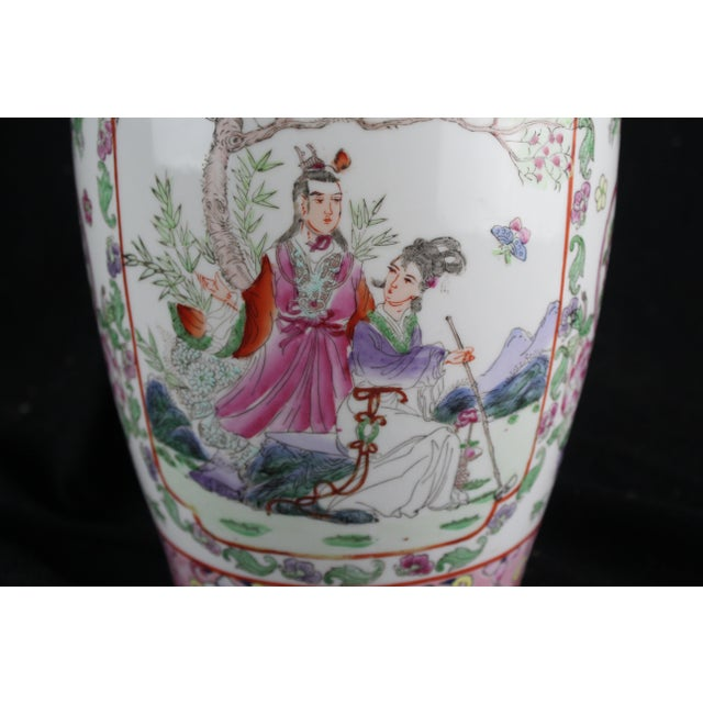 Early 20th Century Antique Chinese Pink Vase For Sale - Image 4 of 10