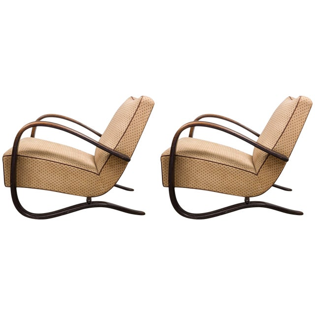 Art Deco Armchairs, Set of Two, Designed by Jindrich Halabala Model H269 L For Sale