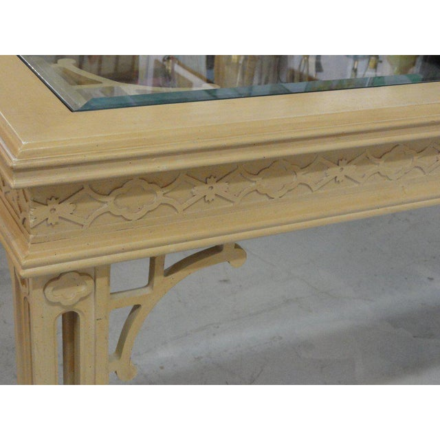 Hollywood Regency Fretwork Dining Table - Image 6 of 11