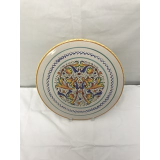Mid 20th Century Hand Painted Italian Cake Plate Preview