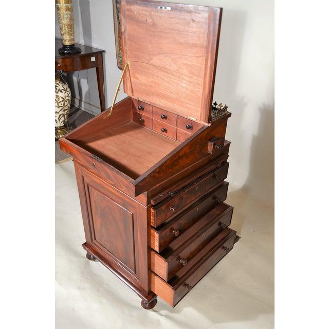 Antique English Mahogany Davenport For Sale - Image 4 of 7