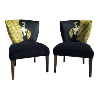 Vintage Mid Century Art Deco Side Chairs - A Pair For Sale