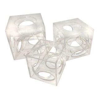 Modernist Style Nesting Acrylic Cubes For Sale
