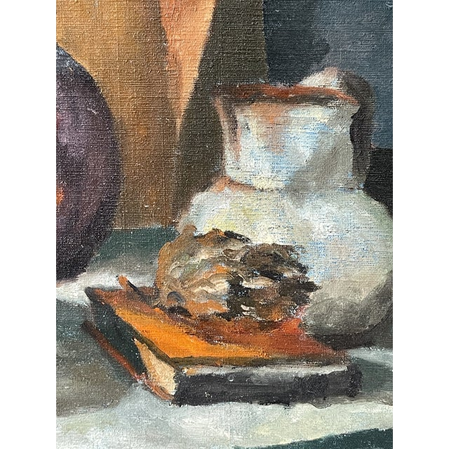 Midcentury Still Life Oil Painting For Sale - Image 9 of 12