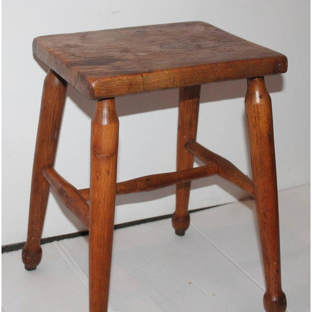 19th Century New England Pine Stool - Image 2 of 6