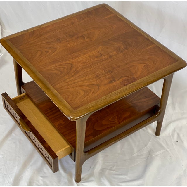 Mid 20th Century Vintage Mid Century Modern Lane Perception Side Table / Nightstand For Sale - Image 5 of 11