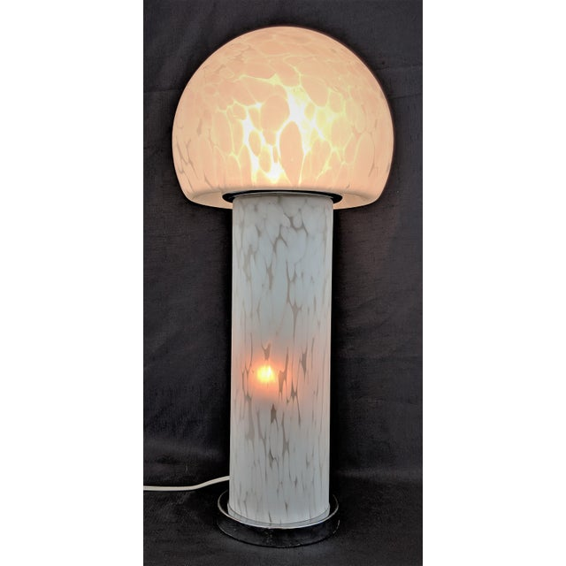 1960s Vintage Murano Tall Mushroom Table Lamp Mazzega For Sale - Image 5 of 13