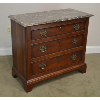 Century Cherry Wood Marble Top Chest of Drawers Preview