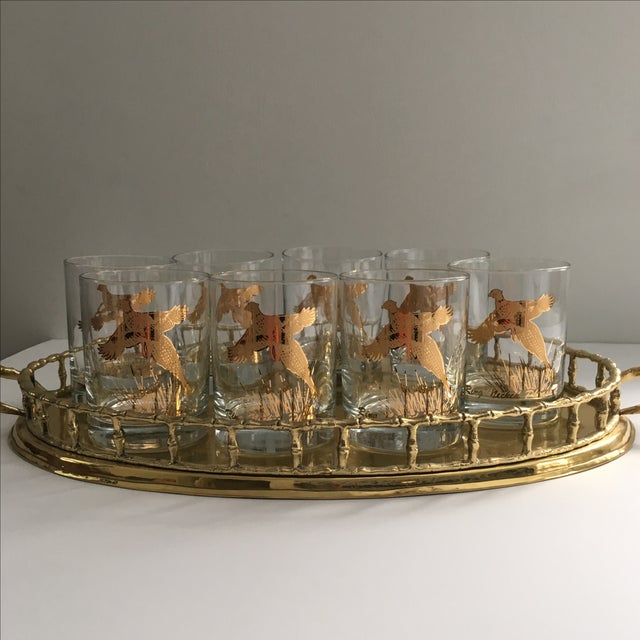 Ring Necked Pheasant Vintage Cocktail Glasses - 8 - Image 5 of 7