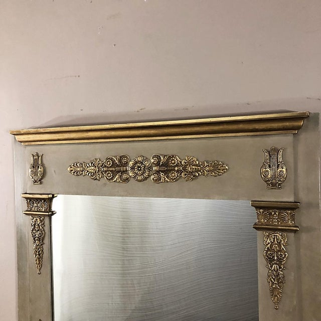 19th Century French Empire Painted Mirror For Sale - Image 4 of 13