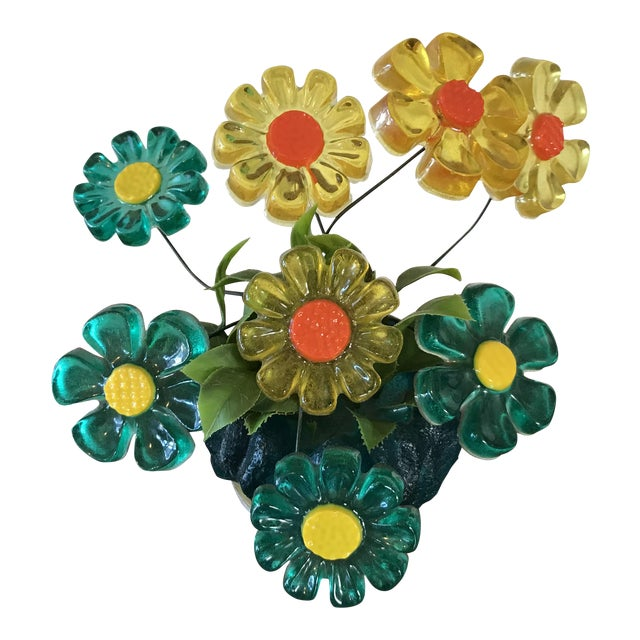 Retro Daisy Flower Bouquet | Chairish