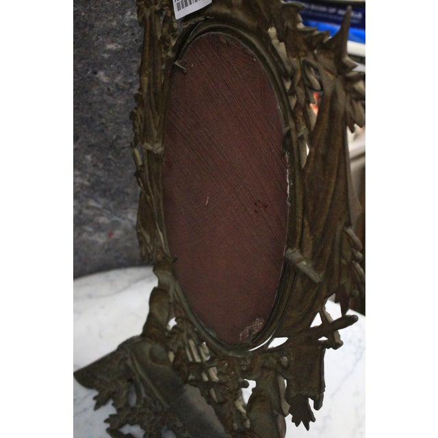 Bronze Gothic Style Military Motif Table Mirror For Sale - Image 7 of 8