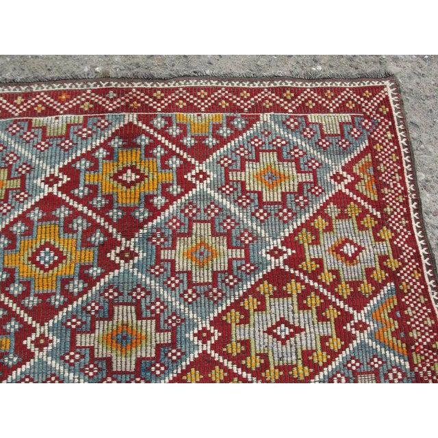 Yellow Vintage Turkish Kilim Rug - 5′8″ × 10′4″ For Sale - Image 8 of 11