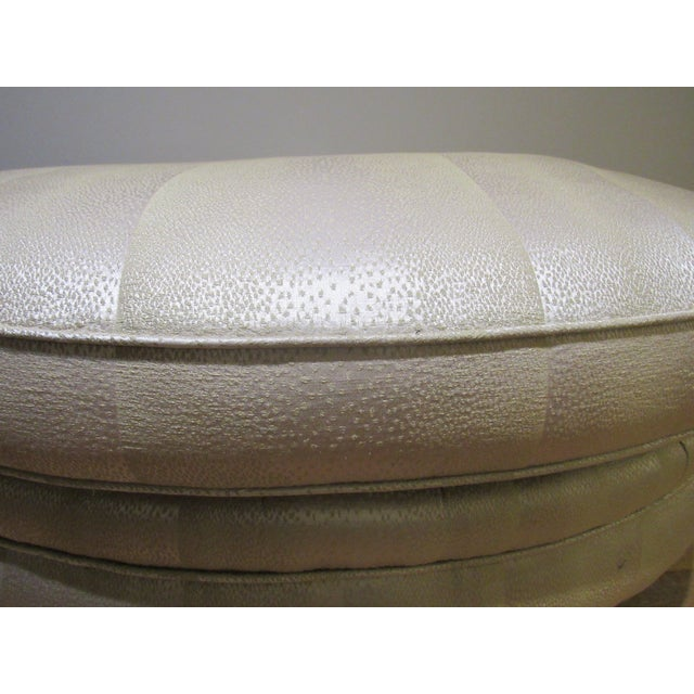 White Ottoman by Donghia For Sale - Image 8 of 9