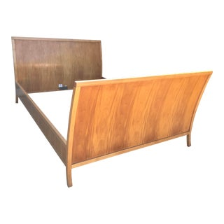 Traditional Baker Maple Queen Sleigh Bedframe For Sale