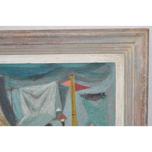 "Raymond Tom ""Domestic Surrealism"" Original Oil Painting c.1947 - Image 4 of 9"