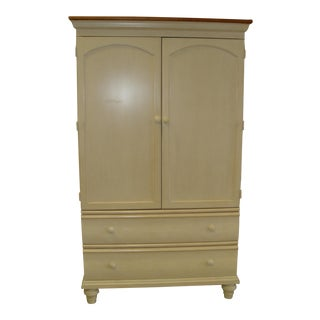 Traditional Thomasville Cream Color Wardrobe For Sale