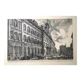 """""""Veduta Della Gran Curia Innocenziana"""" Antique Architectural Lithograph After Piranesi For Sale"""