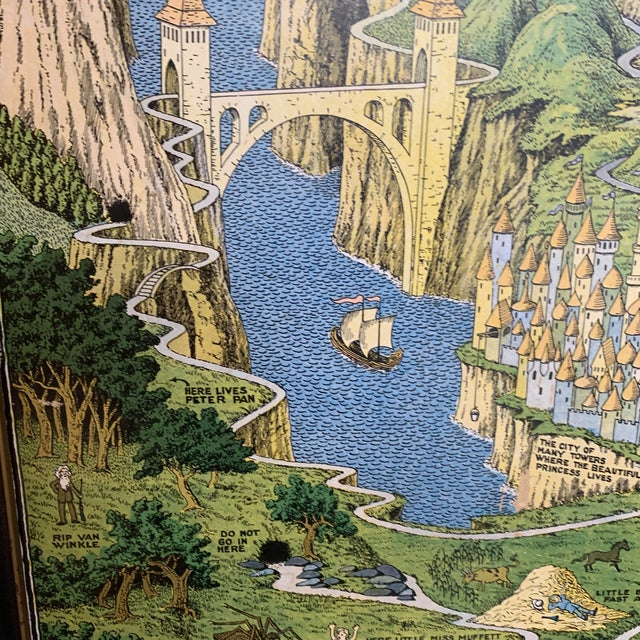 """Early 20th Century """"The Land of Make Believe"""" Poster by Jaro Hess, Framed For Sale In Seattle - Image 6 of 8"""
