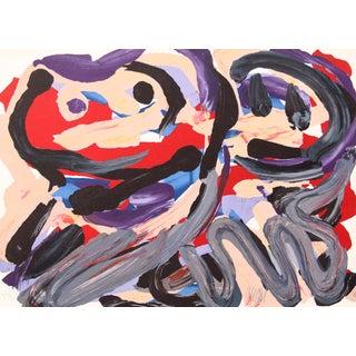 """Happy Battle"" Lithograph by Karel Appel For Sale"