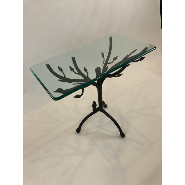 Traditional Giacometti Style Iron Based Side Table For Sale - Image 3 of 7