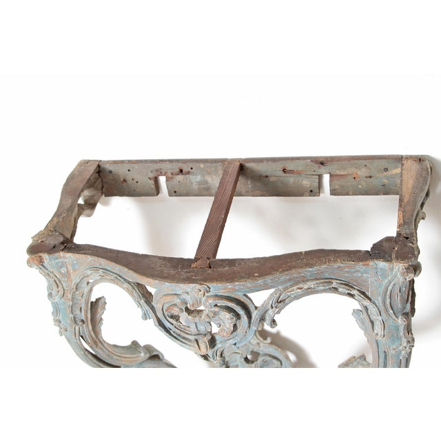 Period Painted Louis XV Console With Shaped Marble Top For Sale - Image 9 of 13