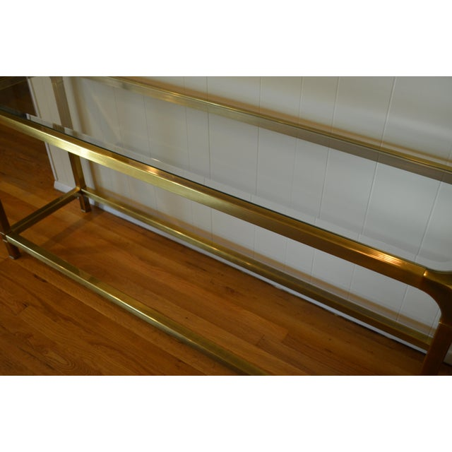 Mastercraft Hollywood Regency Brass Console/Sofa Table - Image 6 of 7