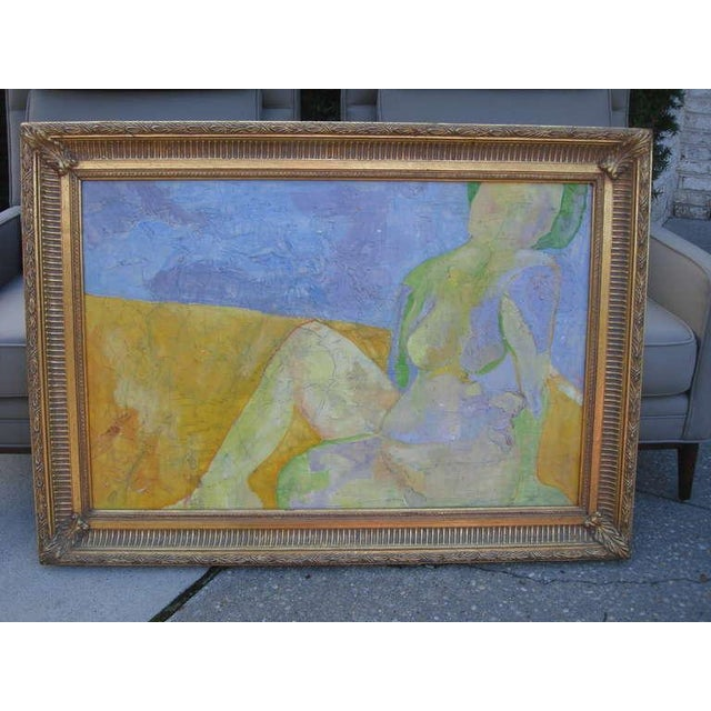 Exquisite Abstract Female in Repose Painting By J.Dahli - Image 4 of 6