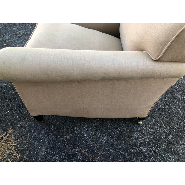 George Smith Full Scroll Arm Chair With Slipcover For Sale - Image 10 of 11