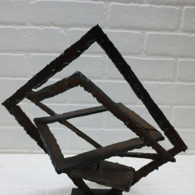 Mid-Century Hand Forged Brutalist Sculptural Candle Holder For Sale - Image 10 of 11