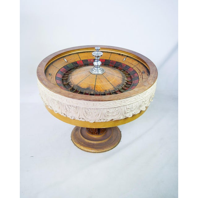 Americana Large Antique Vintage Roulette Wheel For Sale - Image 3 of 9