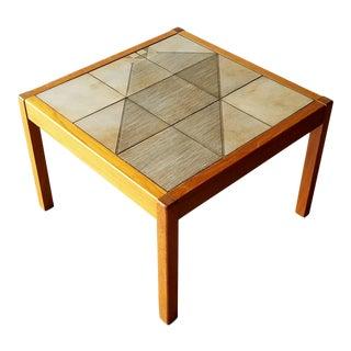 1970s Poul H. Poulsen for Gangsø Møbler Tile Inlay Side Table For Sale