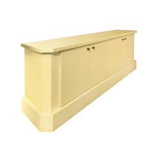 1970s French Ivory Lacquer Sideboard by Jean Claude Dresse Preview