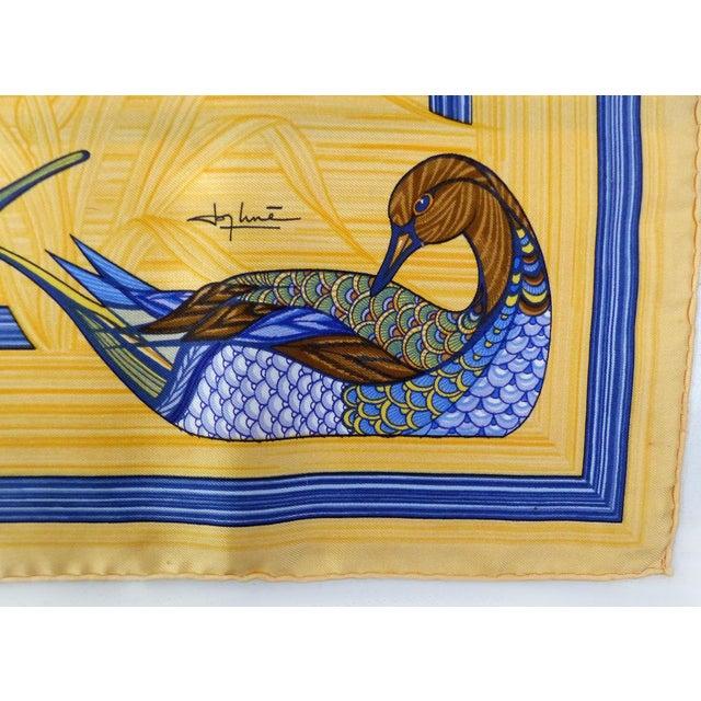 1981 Unused Hermès La Mare Aux Canards Scarf For Sale - Image 4 of 8
