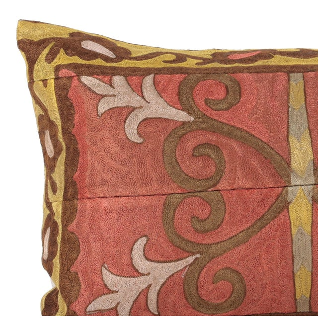 Vintage Embroidered Accent Pillow - Image 2 of 4