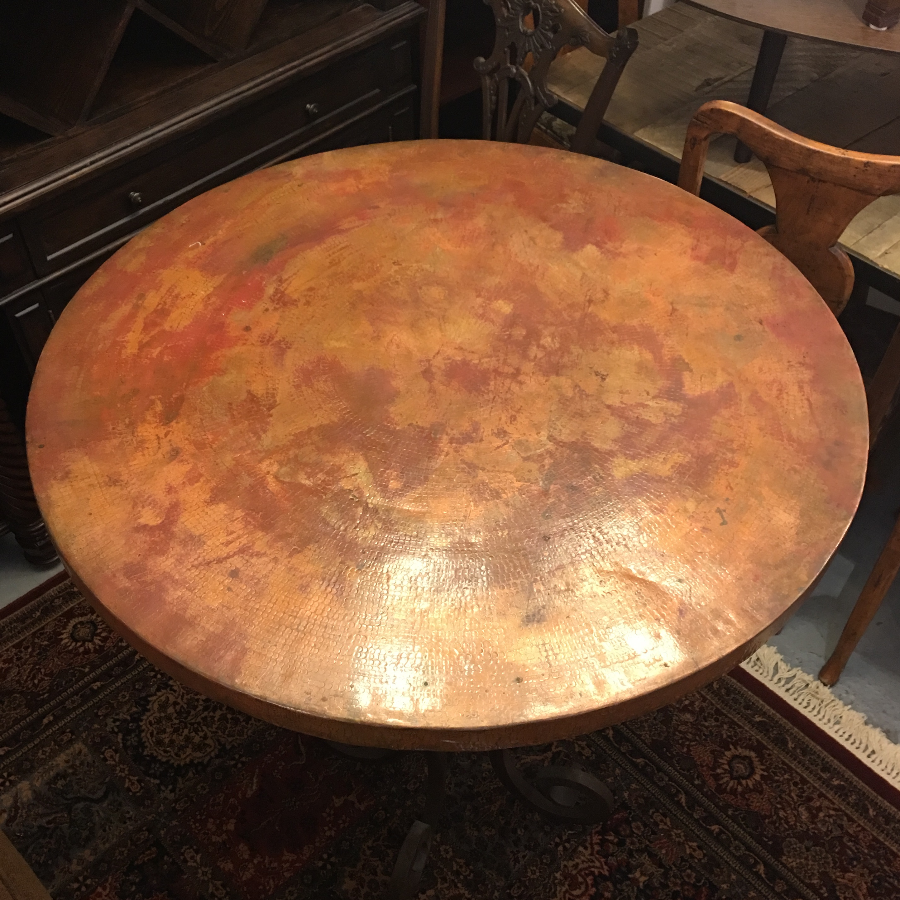 Vintage Copper Top Bar Table   Image 3 Of 9