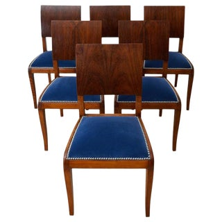 Set of Six English Regency Style Rosewood Dining Chairs For Sale