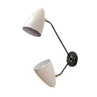 Double Arm Brass Wall Light 'L3gg'