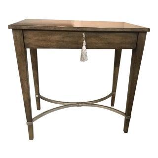 Drexel Heritage Modern Brown Wood Nightstand For Sale