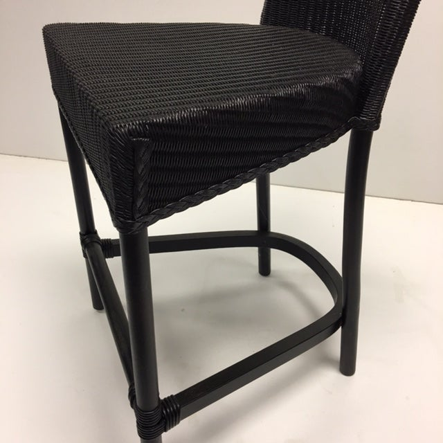 Black Loom Counter Height Stools - A Pair - Image 3 of 5