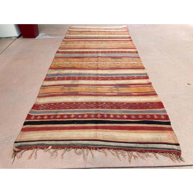 Vintage Moroccan Tribal Kilim Rug, circa 1960 For Sale - Image 12 of 13