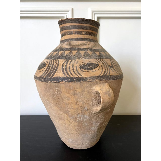 Brown Chinese Neolithic Painted Pottery Jar For Sale - Image 8 of 13