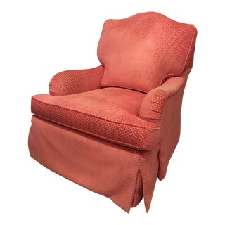 Lee Industries Peach Swivel Glider Chair