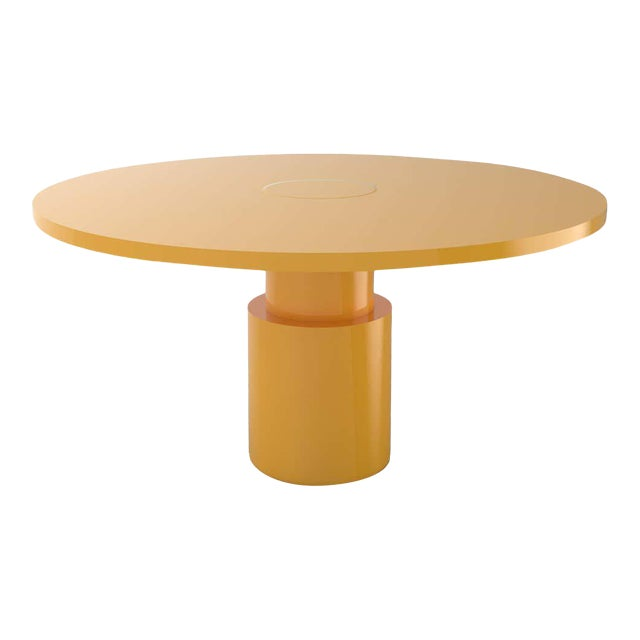 Contemporary 100C Dining Table by Orphan Work, 2020, Yellow For Sale