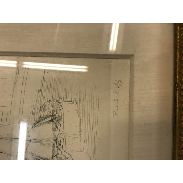 Raoul Dufy 1940s Abstract Original Raoul Dufy Framed Etching For Sale - Image 4 of 8