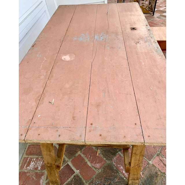 Mid 19th Century 19th Century French Saw Horse/Trestles Table For Sale - Image 5 of 9
