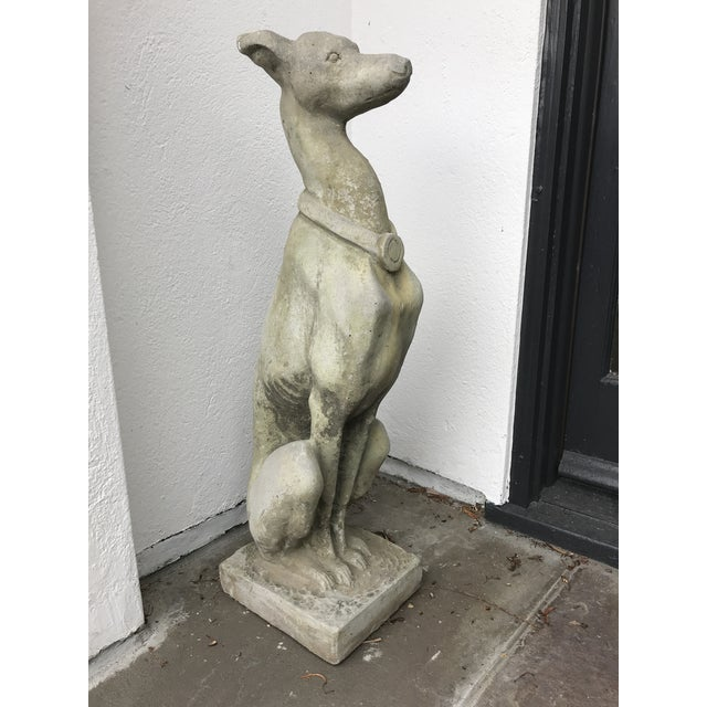 Whippet Dog Statues- a Pair For Sale - Image 10 of 12