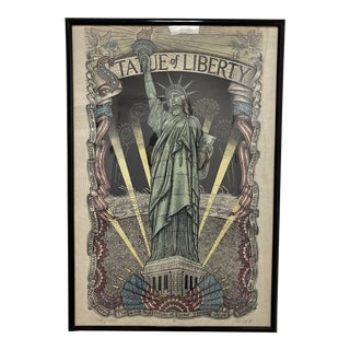 Limited Edition + Framed Statue of Liberty Print For Sale